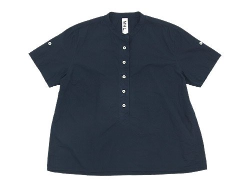 MHL. COTTON RAMIE POPLIN P/O SHIRT 121NAVY 〔レディース〕