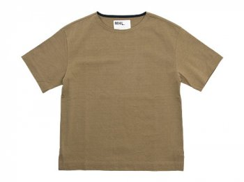MHL. MATT COTTON JERSEY T 040BEIGE〔メンズ〕