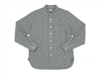 MARGARET HOWELL GINGHAM COTTON POPLIN SHIRTS 011BLACK x WHITE 〔メンズ〕