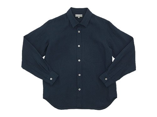 MARGARET HOWELL SHIRTING LINEN SHIRTS 121NAVY 〔メンズ〕