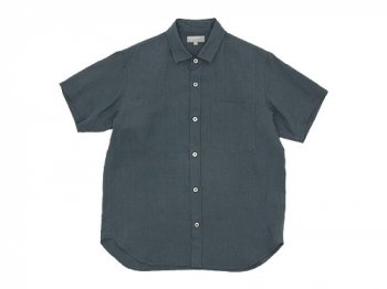 MARGARET HOWELL SHIRTING LINEN S/S SHIRTS 023CHARCOAL