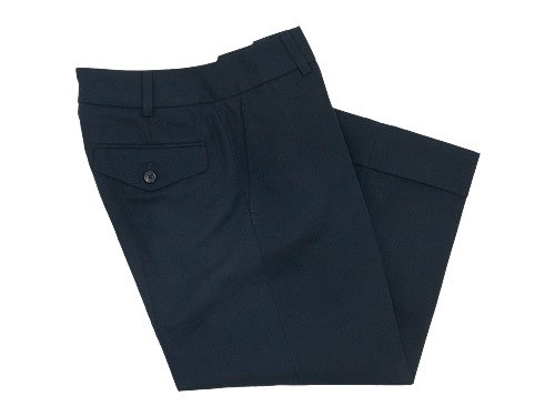 MARGARET HOWELL LIGHTWEIGHT COTTON LINEN PANTS 121NAVY 〔レディース〕