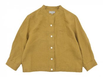 MARGARET HOWELL SHIRTING LINEN II NO COLLAR SHIRTS 063MUSTARD 〔レディース〕