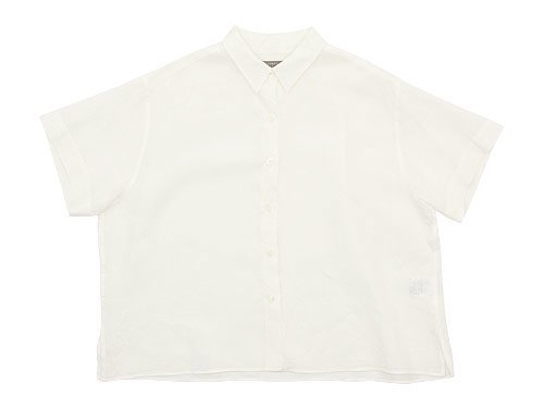 MARGARET HOWELL FINE LINEN S/S SHIRTS 030WHITE 〔レディース〕