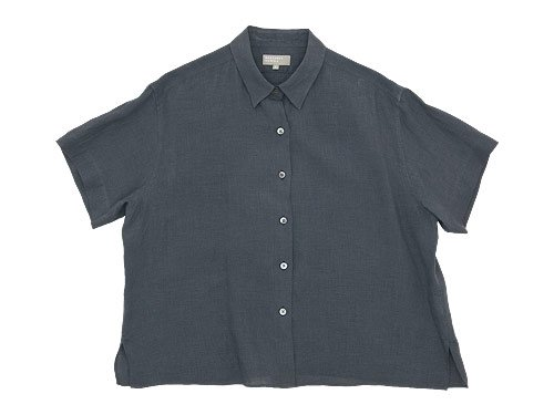 MARGARET HOWELL FINE LINEN S/S SHIRTS 020GRAY 〔レディース〕
