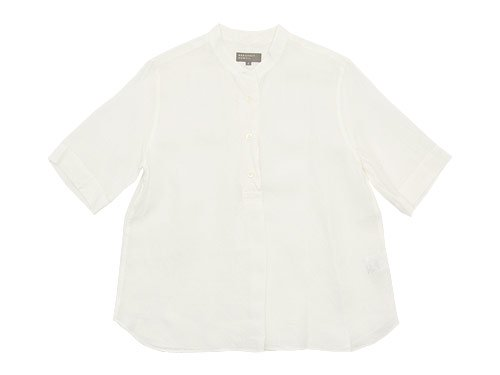 MARGARET HOWELL SOFT LINEN P/O SHIRTS 030WHITE 〔レディース〕