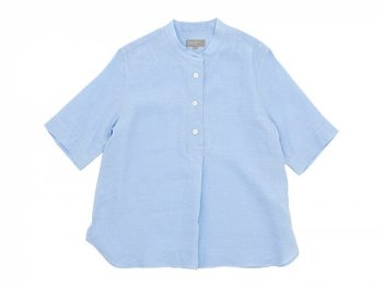 MARGARET HOWELL SOFT LINEN P/O SHIRTS 112BLUE〔レディース〕