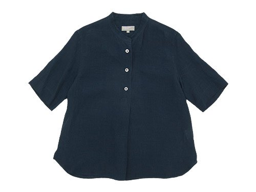 MARGARET HOWELL SOFT LINEN P/O SHIRTS 120NAVY〔レディース〕
