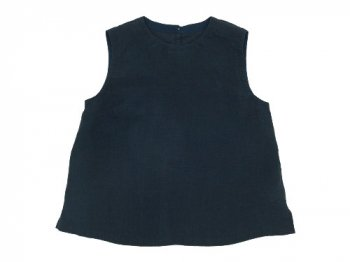 MARGARET HOWELL SOFT LINEN NO SLEEVE SHIRTS 120NAVY〔レディース〕