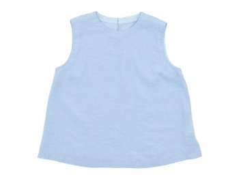 MARGARET HOWELL SOFT LINEN NO SLEEVE SHIRTS 112BLUE〔レディース〕