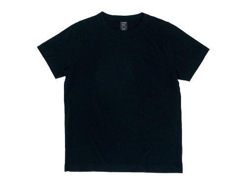 homspun 天竺半袖Tシャツ ブラック 〔メンズ〕