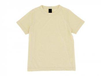 homspun 天竺半袖Tシャツ ライトイエロー 〔メンズ〕 【6272】