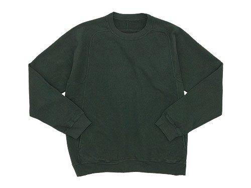 THE HINOKI オーガニックコットン裏起毛 スウェットシャツ GREEN