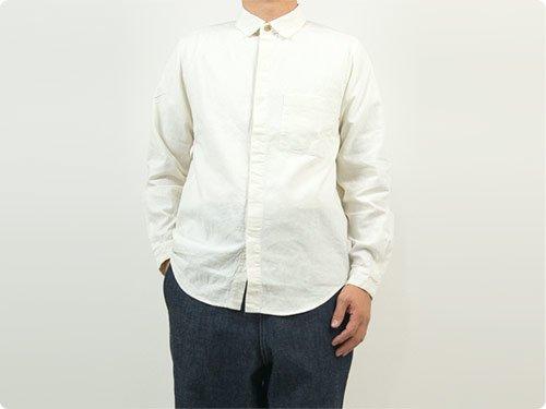 THE HINOKI リネンコットン ウッドボタンワークシャツ NATURAL