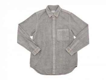 THE HINOKI リネンコットン ウッドボタンワークシャツ GRAY
