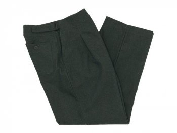 THE HINOKI 綿毛馬布 イージーパンツ GREEN