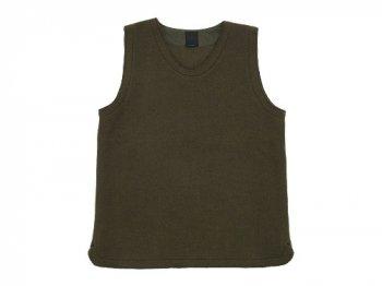 maillot melton U neck vest OLIVE