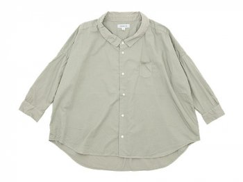 ordinary fits BARBER SHIRT LIGHT GRAY