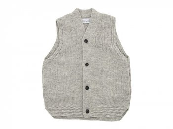ENDS and MEANS Grandpa Knit Vest BEIGE GRAY