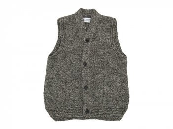 ENDS and MEANS Grandpa Knit Vest GRAY BROWN