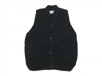 ENDS and MEANS Grandpa Knit Vest BROWN BLACK