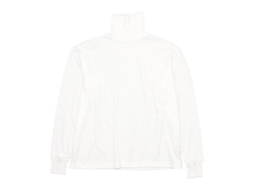 TOUJOURS  Turtle Neck Pullover WHITE