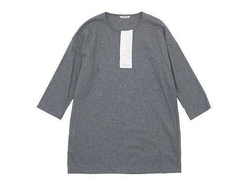 TOUJOURS Big Henley Neck Shirt LIGHT GRAY 【TM27RS02】