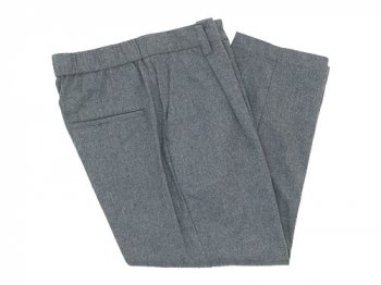 TOUJOURS Tapered Tuck Trousers LIGHT GRAY
