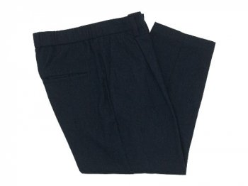 TOUJOURS Tapered Tuck Trousers NAVY