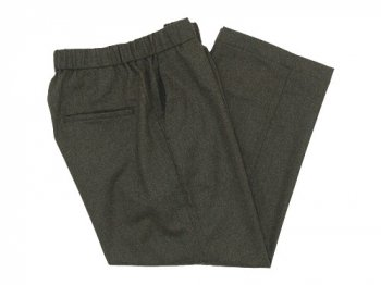 TOUJOURS Easy Trousers OLIVE BROWN 【TM27RP04】
