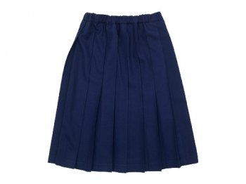 Charpentier de Vaisseau Pleated Skirt Wool INDIGO