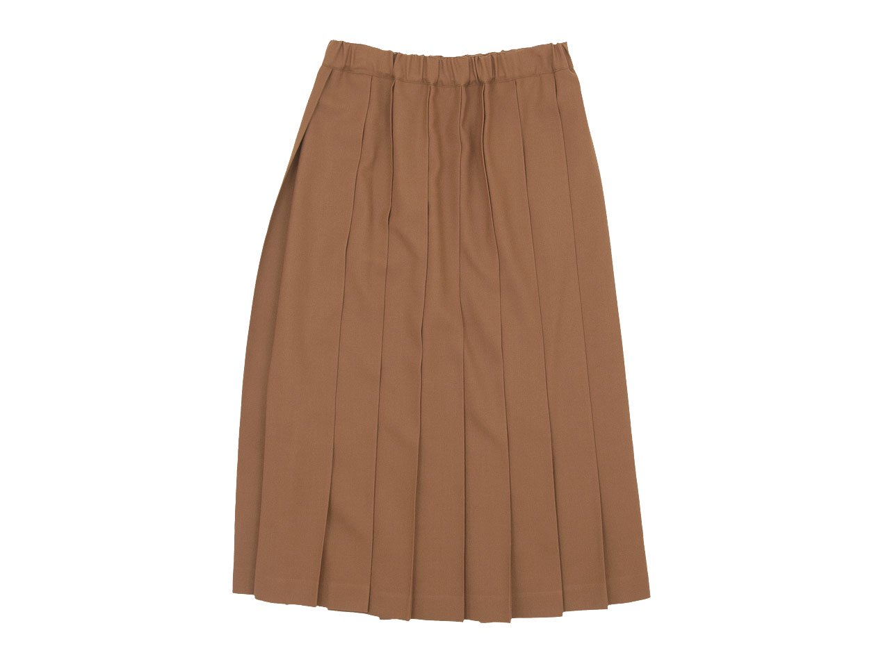 Charpentier de Vaisseau Pleated Skirt Long Wool BEIGE