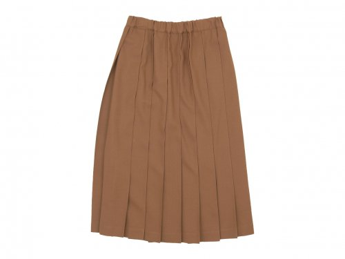 Charpentier de Vaisseau Pleated Skirt Long Wool