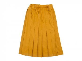 Charpentier de Vaisseau Brisa Pleated Skirt Long Wool YELLOW