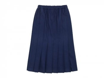 Charpentier de Vaisseau Pleated Skirt Long Wool INDIGO