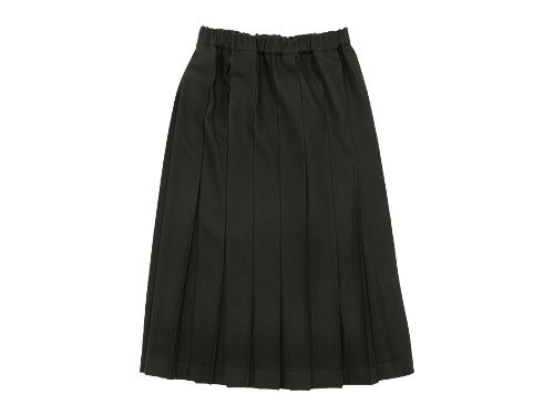 Charpentier de Vaisseau Pleated Skirt Long Wool OLIVE