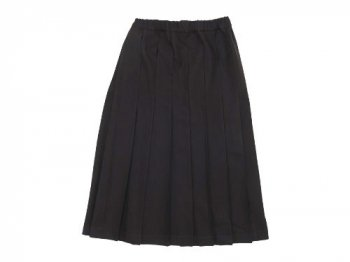 Charpentier de Vaisseau Pleated Skirt Long Wool DARK BROWN