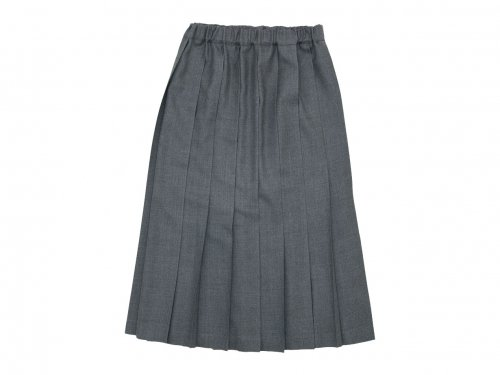 Charpentier de Vaisseau Pleated Skirt Long Wool GRAY