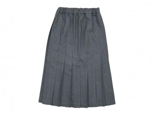 Charpentier de Vaisseau Brisa プリーツスカート Long Wool GRAY