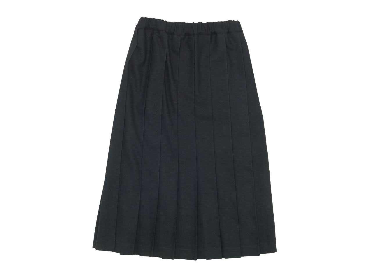 Charpentier de Vaisseau Pleated Skirt Long Wool BLACK