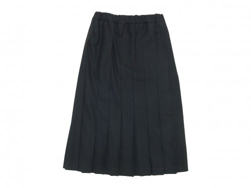 Charpentier de Vaisseau Brisa Pleated Skirt Long Wool BLACK