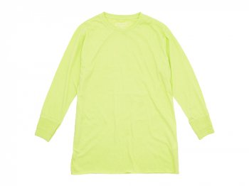 Ohh! Basic 9/10 Tee LIME YELLOW