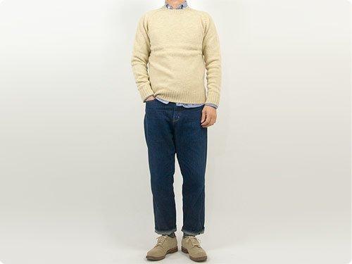 Charpentier de Vaisseau Karl Shetland Crew Neck Knit OATMEAL
