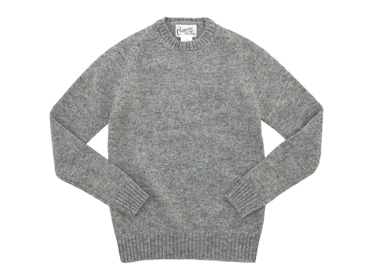 Charpentier de Vaisseau Karl Shetland Crew Neck Knit GRAY