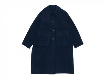 Lin francais d'antan Carra(カルラ) Round Collar Coat NAVY