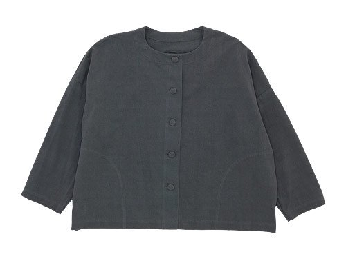 Lin francais d'antan Rohe Cotton Jacket DARK GRAY