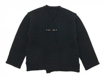 Lin francais d'antan Degas Shetland Knit Cardigan BLACK
