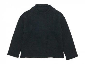 Lin francais d'antan Mullan Shetland Knit BLACK