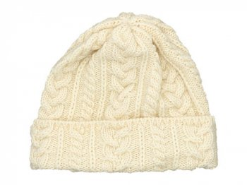 Kerry Woollen Mills Knit Cap WHITE