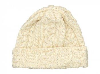 Kerry Woollen Mills Knit Cap WHITE